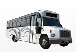 24 pass party bus rental